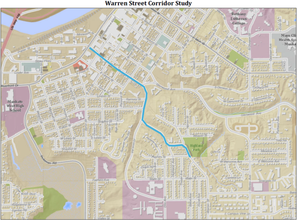 Warren Street Corridor Study Map